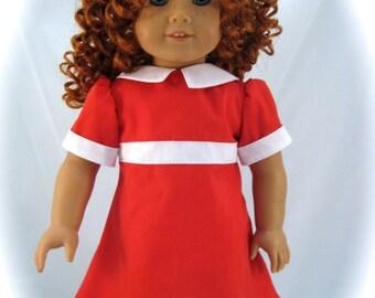 American Girl Doll sized Annie Dress