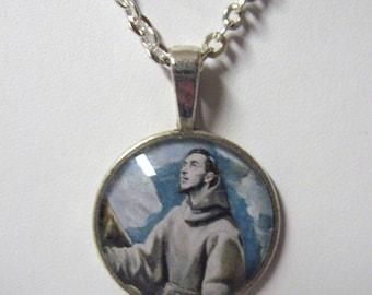 Saint Francis pendant with chain - AP05-040