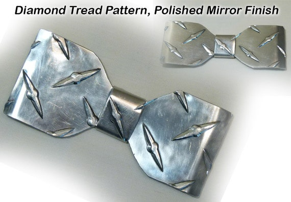 Metal Neck Bow Tie, Aluminum, Solid Deck Plate