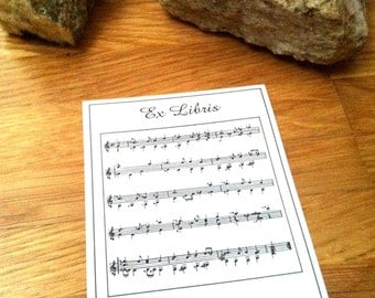 50 Personalized Sheet of Music Ex Libris Bookplates Booklabels