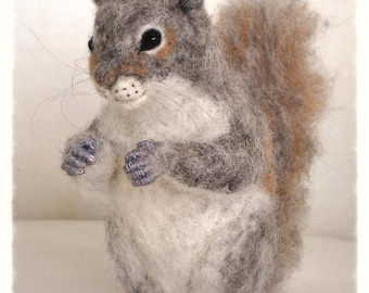 Ooak Needle Felted Squirrel