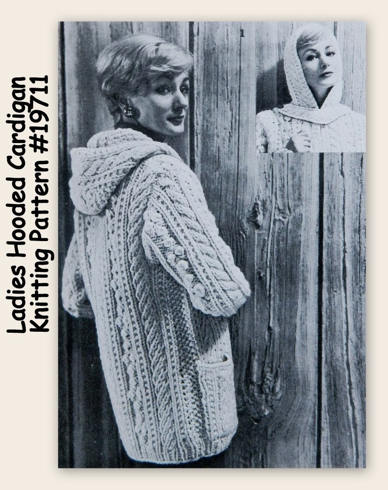 Aran Sweater Pattern - Hoodie - PDF 19711 - Knitting from ...