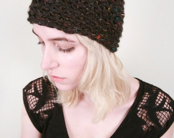 LuLu & Loie's Winter Hat in Confetti Black (Choose your colors!)