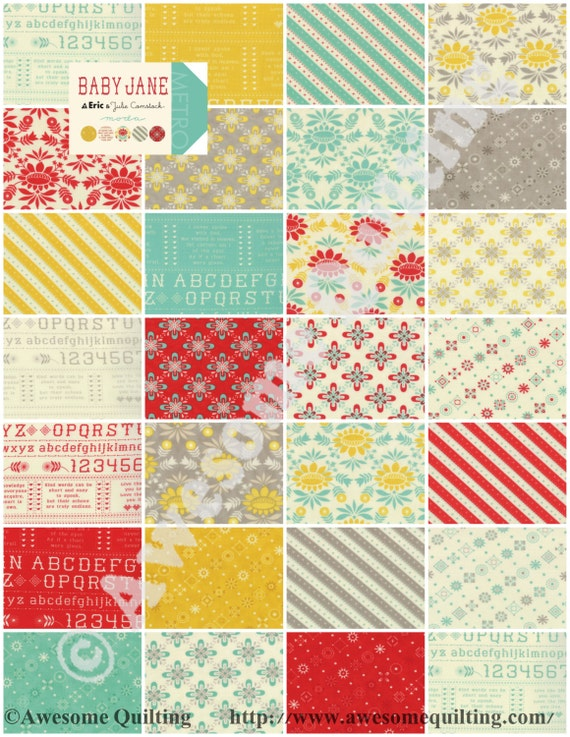 Layer Cake Quilt Fabric : Layer Cake Baby Jane MODA quilting fabric squares