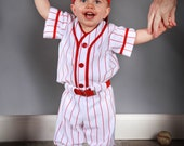 Baseball Uniforms for Photo Prop Or dress up, 3 piece,  Made to Order in Children's sizes Sizes larger than 6 are higher