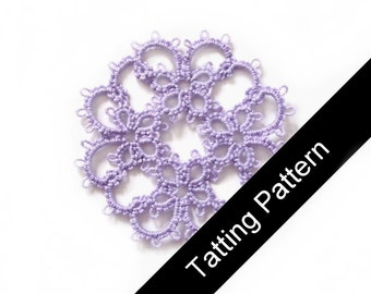 Tatting Pattern PDF - Janessa Butterfly Motif - Intermediate - Instant Download