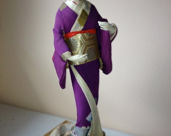 Vintage Japanese GEISHA DOLL performing dance