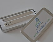 Mongrammed Collar Stays! Father's Day, Confirmation, Graduation - Men's Accessories