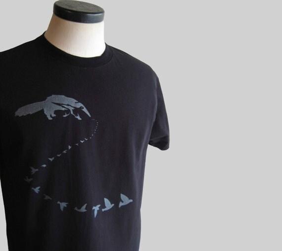 Anteater Eats Birds Black Organic T Shirt