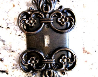 Metal, Single Switch Plate - FREE USA SHIPPING - single switch Cover, Old World, Medieval, Custom light switch cover, switch plate, tuscan
