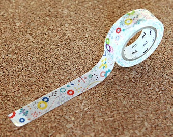 Colorful POP - Japanese Washi Paper Masking Tape - mt ex - Scrapbooking, Kawaii Collage, Gift Wrapping, Unique Art Design Sticker,  MTEX1P74
