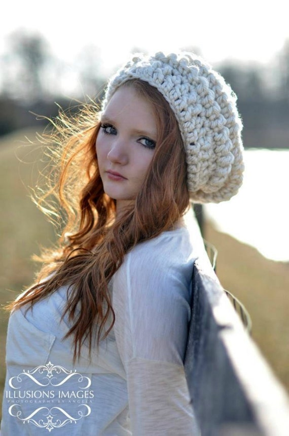 Womens Slouchy Beanie Winter Hat for Women Ivory Hat Teenager Clothing Chunky Slouch Hat Cream Hat Teenage Girl Gifts Girls Trendy Hat