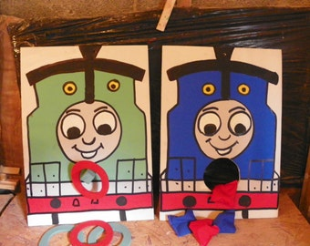 Thomas    and percy  Bean and Ring toss