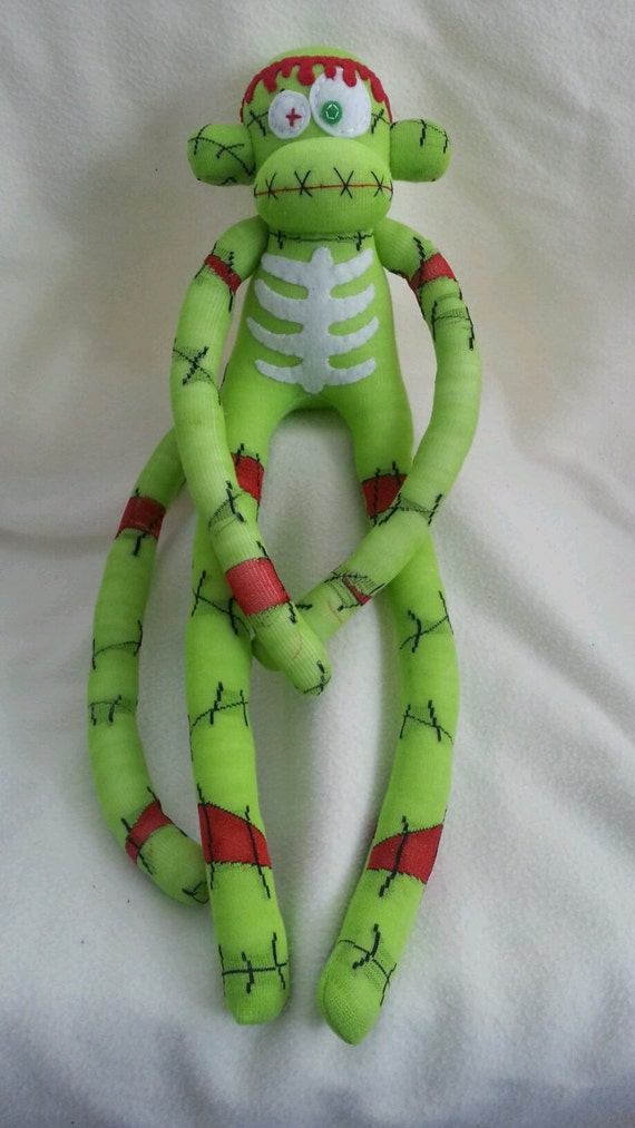 Zombie Sock Monkey - Stitch