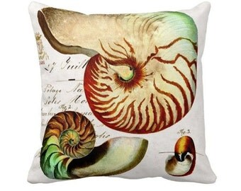 Pillow Cover Nautilus Shell