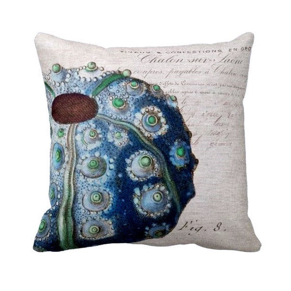 Pillow Cover Beach Decor Sea Urchin