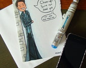 Doctor Who Birthday Card - Captain Jack Harkness - Cheer Up Get Well Over the Hill Torchwood