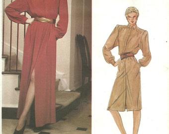 Vogue 2630 / Vintage Designer Sewing Pattern / By Calvin Klein / Dress Gown / Size 14 Bust 36