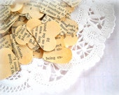 Gone With The Wind Heart Confetti  / 500 Pieces / Wedding Decor / Vintage Heart Confetti / Party Confetti