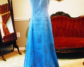 Gradient Blue Dress for Costume Making