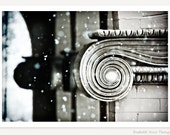 As Winter Set In - Architecture Photography - Fine Art Photograph - Black & White Monochromatic Photo - Winter Snow Photograph