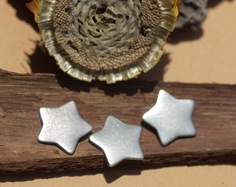 Nickel Silver Chubby Star 14.5mm Blanks Cutout for Metalworking Stamping Texturing Blank