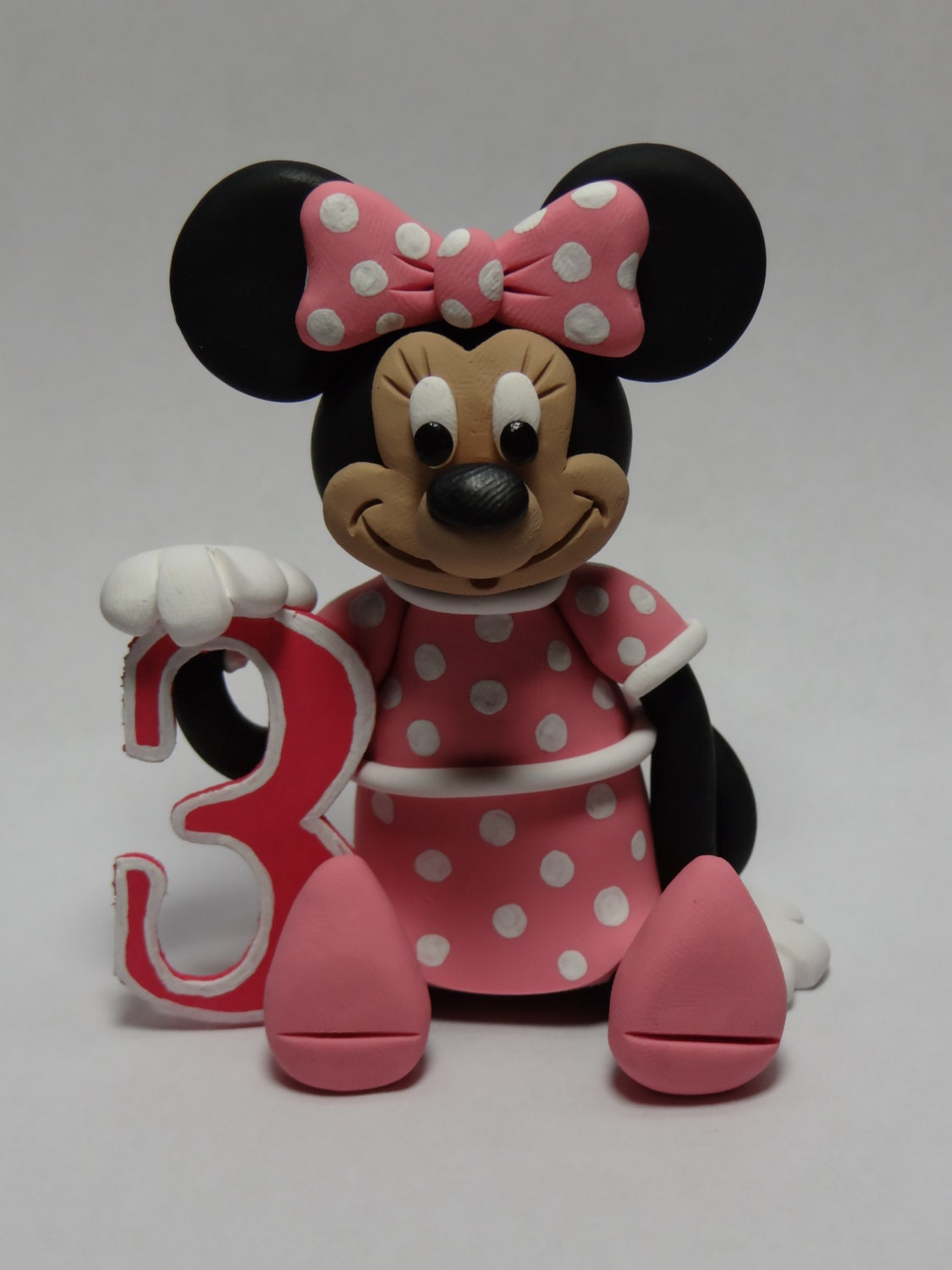 minnie mouse cake topper minnie mouse birthday cake topper by claycreationsbylaura 5944