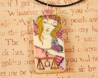 Libra Necklace - Libra Pendant - Zodiac Necklace - Zodiac Pendant - Domino Necklace - Domino Pendant
