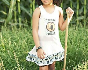 Girls Twirl Dress Vintage Halloween