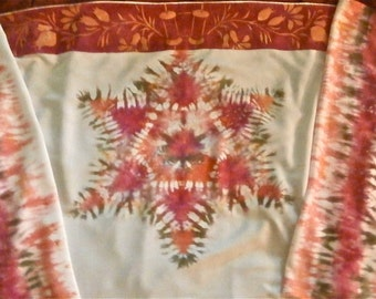 Tallit, shawl size, tie-dyed in many possible shades and colors!