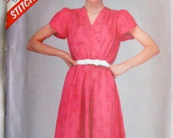McCalls 8546 Womens Pullover Summer Dress Vintage Sewing Pattern Bust 38
