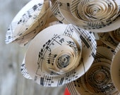 Music Paper Flowers: Paper Bouquet Made from Vintage Sheet Music; Musical Bouquet; Gift for Music Lover; Gift for Musician