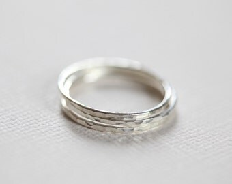 sterling silver stacking rings, skinny rings, dainty rings - set of 3 stackable rings