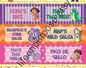 Dora the Explorer Birthday Party Food Tags