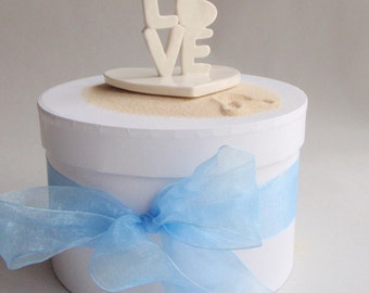 Handmade Love with Heart Ceramic wedding Cake Topper