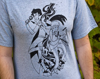 Sherlock  T-Shirt // Sherlock and John // Hand Screen Printed Sherlock Shirt