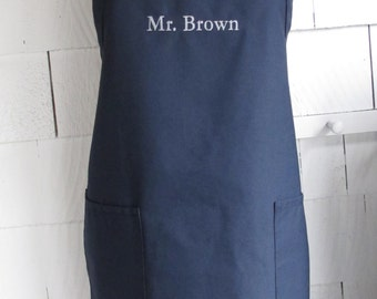Personalized Mr Apron - Monogrammed Personalized Apron - Baking Apron - Custom Text