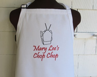Customized Personalized Apron - Personalized Sushi or Chinese Food Takeout Apron