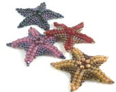 Sea Stars also known as Starfish bead weaving instructions and tutorial