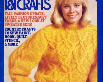 McCall's Needlework & Crafts Magazine August 1986, Vintage Craft Projects, Needlework Pattern Assortment