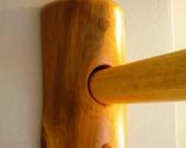 Log Shower Curtain Rod and Support Brackets Set - Log Cabin Bathroom Decor