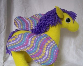 Customizable Butterfly Pony Plush - choose your own colors and patterns