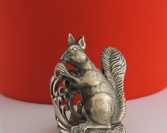 Vintage Ring - Squirrel Ring - Statement Ring - Adjustable Ring - Squirrel Jewelry - handmade jewelry