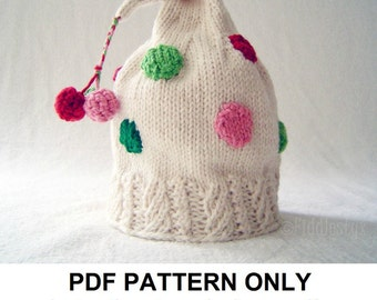 Hat Knitting Pattern - Christmas Hat Pattern - the CINDY LOU Hat (Newborn, Baby, Toddler, Child & Adult sizes incl'd)