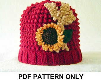 Knitting Pattern - Girls Beanie Pattern - the DOROTHY Hat (Newborn, Baby, Toddler, Child & Adult sizes incl'd)