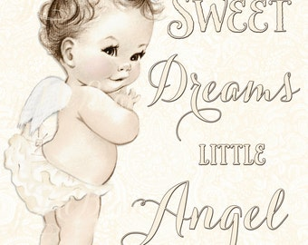 Angel Nursery Art - Angel Nursery Decor