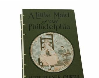 1921 OLD PHILADELPHIA Vintage Book Journal Notebook