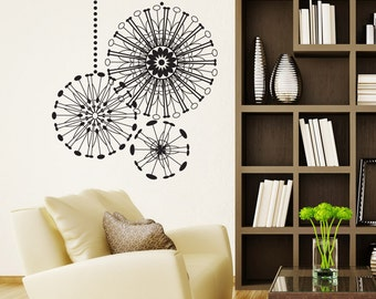 Vinyl Wall Decal Sticker Radial Ornaments OSDC668s