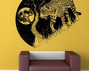 Vinyl Wall Decal Sticker Jaguar at Night OSAA1563s