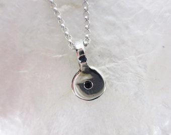 Pendant with Sapphire or Ruby in Sterling Silver